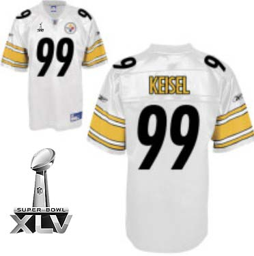 Steelers #99 Brett Keisel White Super Bowl XLV Stitched Youth NFL Jersey