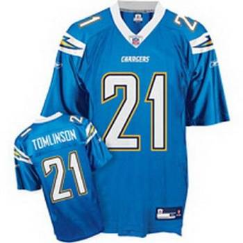 Chargers #21 LaDainian Tomlinson Baby Blue Stitched Youth NFL Jersey