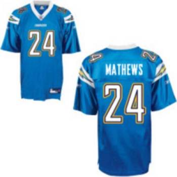 Chargers #24 Ryan Mathews Baby Blue Stitched Youth NFL Jersey