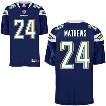 Chargers #24 Ryan Mathews Dark Blue Stitched Youth NFL Jersey