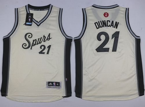 Spurs #21 Tim Duncan Cream 2015-2016 Christmas Day Youth Stitched NBA Jersey