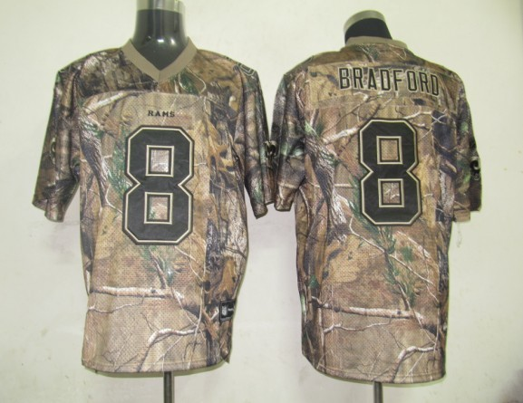 Rams #8 Sam Bradford Camouflage Stitched Realtree Collection Youth NFL Jersey