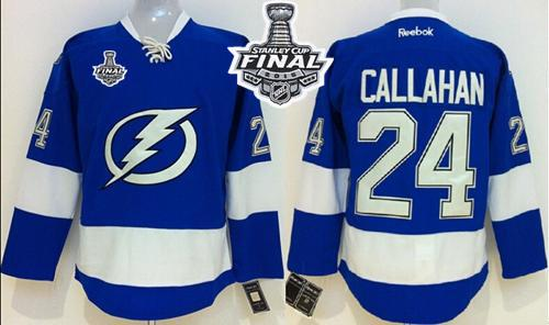 Lightning #24 Ryan Callahan Royal Blue 2015 Stanley Cup Stitched Youth NHL Jersey