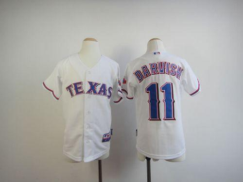Rangers #11 Yu Darvish White Cool Base Stitched Youth MLB Jersey