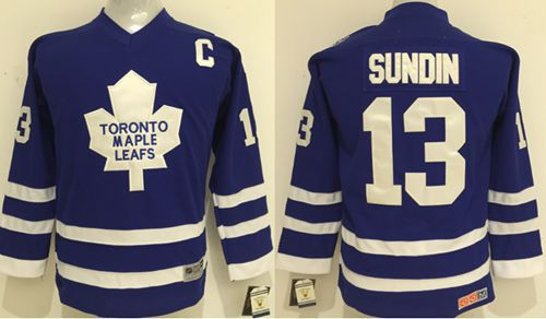 Maple Leafs #13 Mats Sundin Blue CCM Stitched Youth NHL Jersey