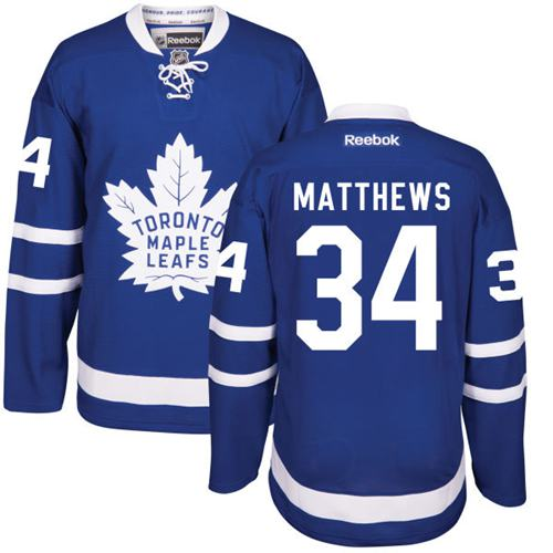 Maple Leafs #34 Auston Matthews Blue Home Stitched Youth NHL Jersey
