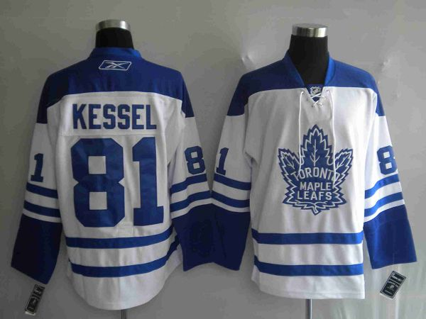 Maple Leafs #81 Phil Kessel Stitched White Third Youth NHL Jersey
