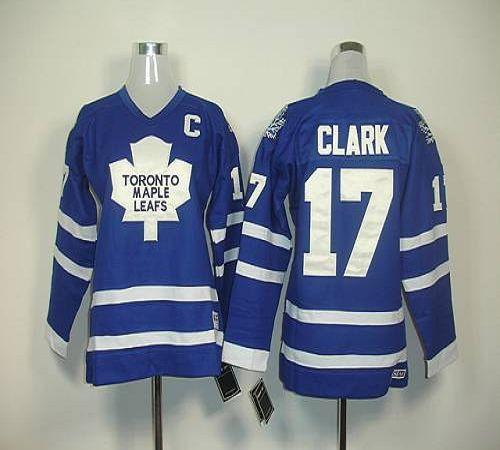 Maple Leafs #17 Wendel Clark Blue Home Stitched Youth NHL Jersey