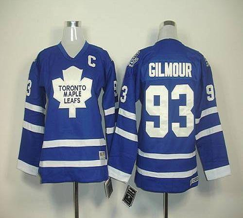 Maple Leafs #93 Doug Gilmour Blue Home Stitched Youth NHL Jersey