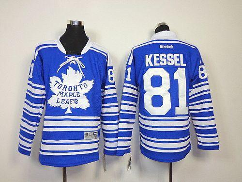Maple Leafs #81 Phil Kessel Blue 2014 Winter Classic Stitched Youth NHL Jersey