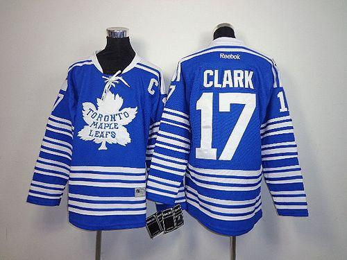 Maple Leafs #17 Wendel Clark Blue 2014 Winter Classic Stitched Youth NHL Jersey