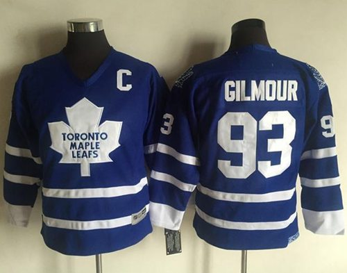 Maple Leafs #93 Doug Gilmour Blue CCM Throwback Stitched Youth NHL Jersey