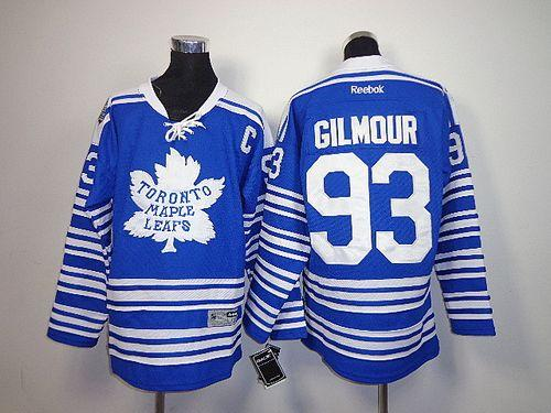 Maple Leafs #93 Doug Gilmour Blue 2014 Winter Classic Stitched Youth NHL Jersey