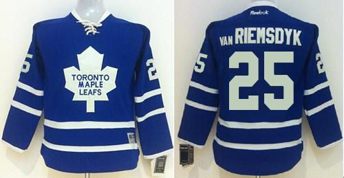 Maple Leafs #25 James Van Riemsdyk Blue Home Stitched Youth NHL Jersey