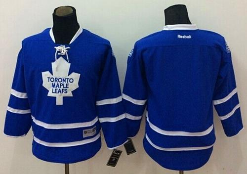 Maple Leafs Blank Blue Stitched Youth NHL Jersey