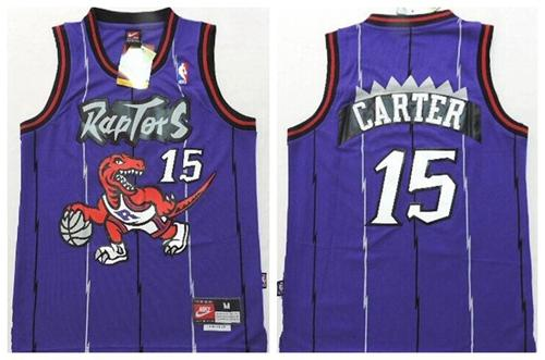 Raptors #15 Vince Carter Purple Throwback Youth Stitched NBA Jersey