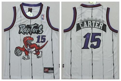 Raptors #15 Vince Carter White Throwback Youth Stitched NBA Jersey