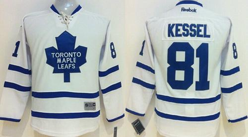 Maple Leafs #81 Phil Kessel White Stitched Youth NHL Jersey