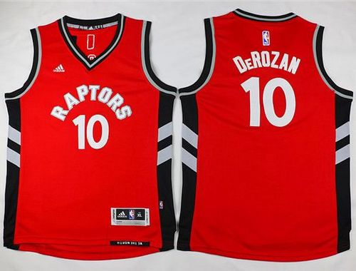 Raptors #10 DeMar DeRozan Red Youth Stitched NBA Jersey