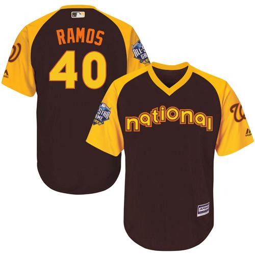 Nationals #40 Wilson Ramos Brown 2016 All-Star National League Stitched Youth MLB Jersey
