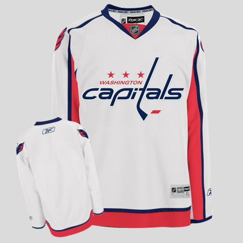 Capitals Blank Stitched White Youth NHL Jersey