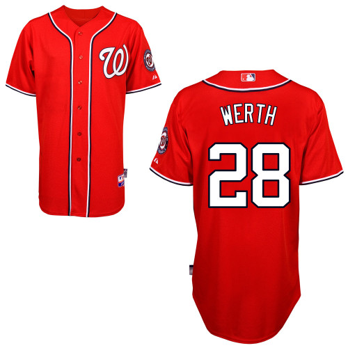 Nationals #28 Jayson Werth Red Stitched Youth MLB Jersey