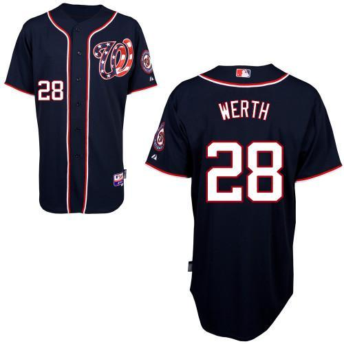 Nationals #28 Jayson Werth Blue Cool Base EStitched Youth MLB Jersey
