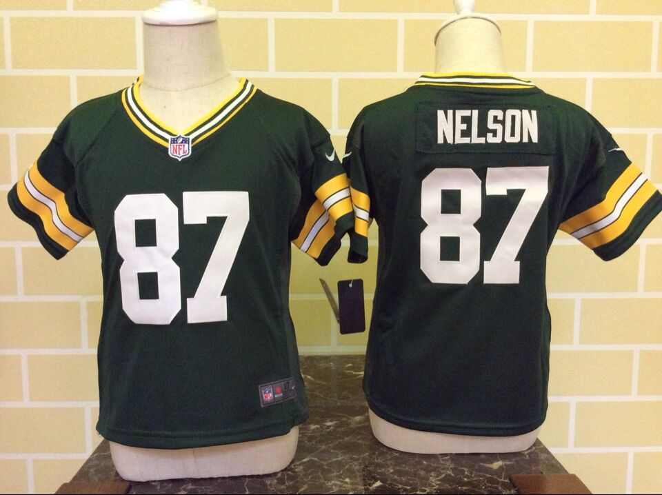Toddler Nike Green Bay Packers #87 Jordy Nelson Green Stitched NFL Jersey