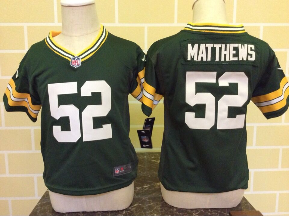 Toddler Nike Green Bay Packers #52 Clay Matthews Green Stitched NFL Jersey