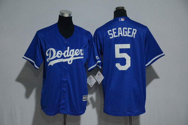 Youth Los Angeles Dodgers #5 Corey Seager Majestic Royal Alternate Cool Base Player Stitched MLB Jersey