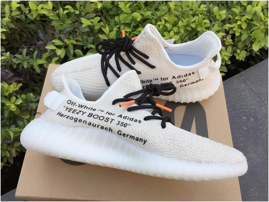 Cheap Off-White x adidas Yeezy Boost 350 V2 Customs Creams White