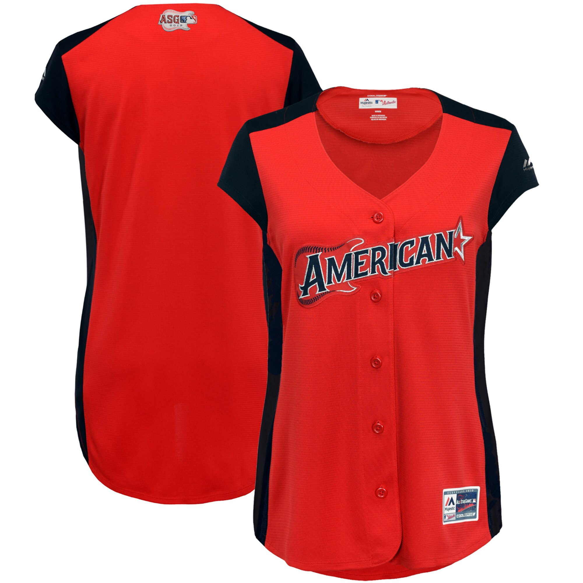 Women's American League Red/Navy 2019 MLB All-Star Workout Team Jersey