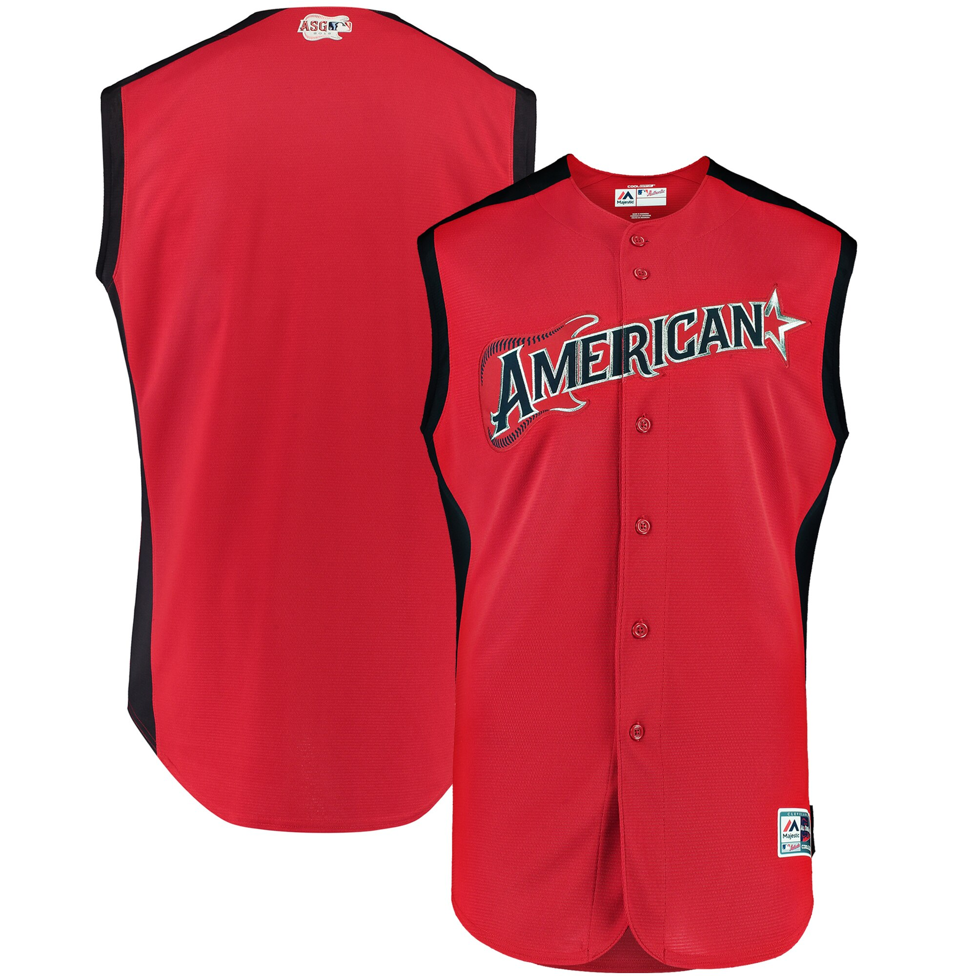 Youth American League Red/Navy 2019 MLB All-Star Workout Team Jersey