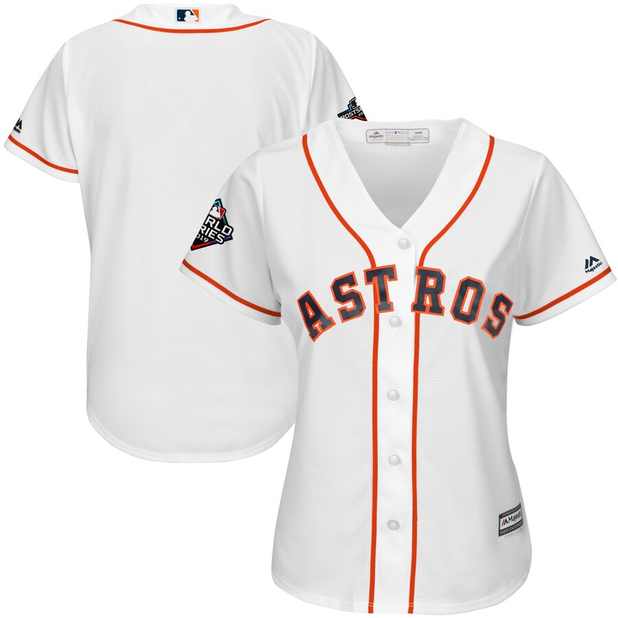 Women's Houston Astros White 2019 World Series Bound Official Cool Base Team Jersey