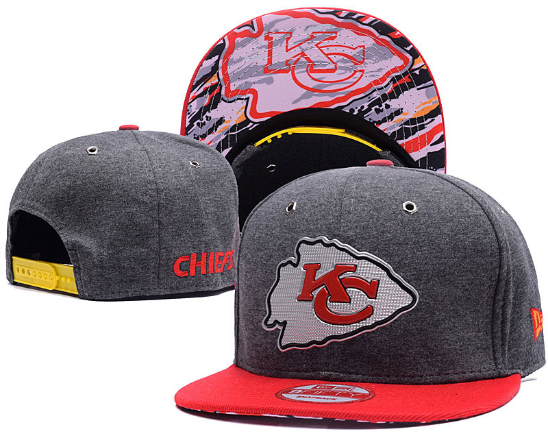 NFL Kansas City Chiefs Stitched Snapback Hats 006
