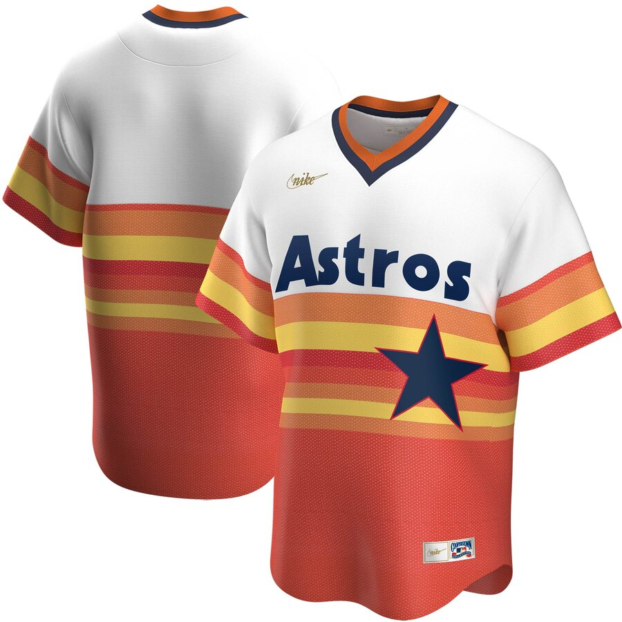 Men's Houston Astros Nike White Home Cooperstown Collection Team Jersey