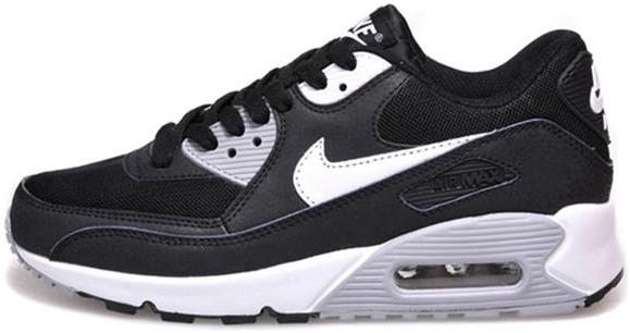 Air Max 90 Outlet Sale Black White Grey Womens