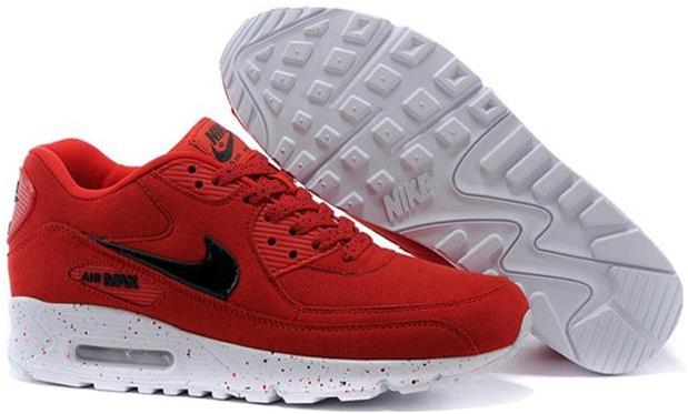 Air Max 90 Outlet Sale Womens Red-Black