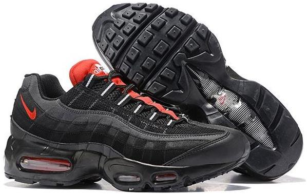 Nike Air Max 95 Essential Black/Challenge Red-White For Sale