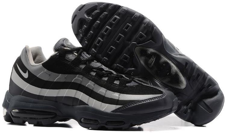 Cheap Mens Nike Air Max 95 Black-Wolf Grey JD Sports For Sale