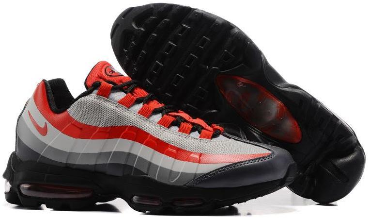 Cheap Nike Air Max 95 Ultra Essential Wolf Grey/Black-Varsity Red Sale