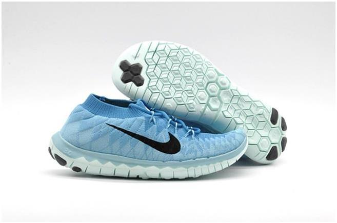 Nike WMNS Free 3.0 Flyknit Light Blue Black