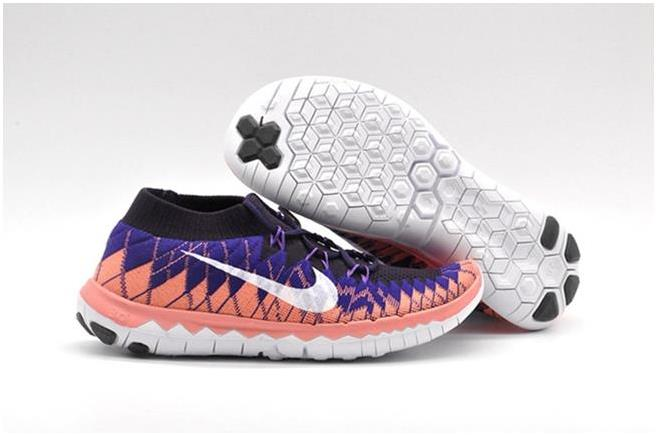 Nike WMNS Free 3.0 Flyknit Red Purple Black White
