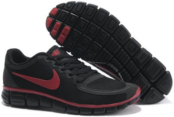 Nike Mens Free 5.0 V4 Black Gym Red