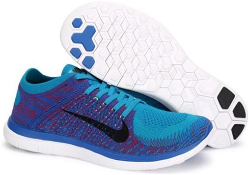 Nike Mens Free 4.0 Flyknit Blue Purple
