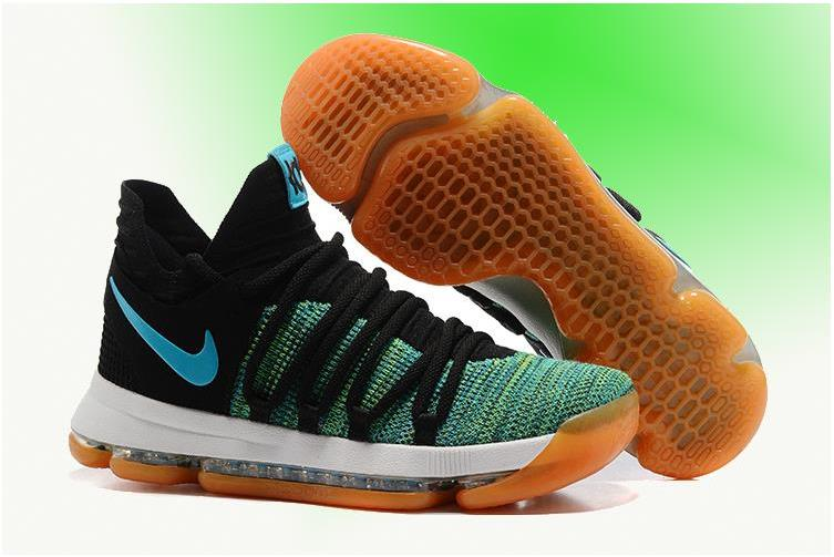Nike KD 10 'Birds of Paradise' Black/Clear Jade For Sale