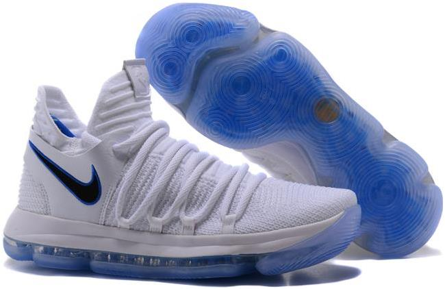 Nike KD 10 'Opening Night' White and Game Royal-University Gold For Sale