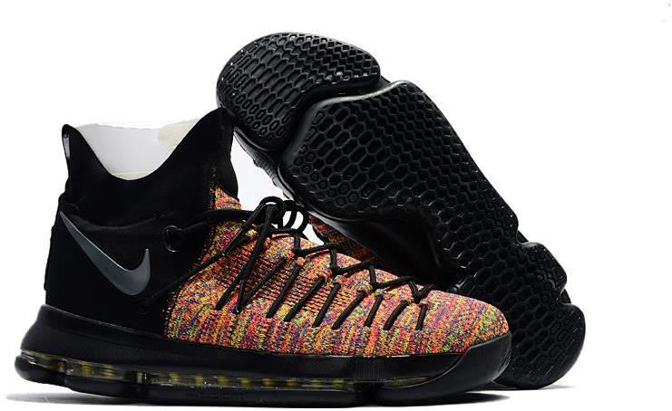 2017 Nike KD 9 Elite Black Multicolor For Sale