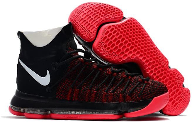 2017 Nike KD 9 Elite Black White Red For Sale