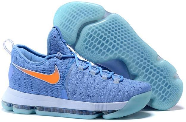 Nike KD 9 University Blue and Orange Men's Basketball Shoes For Sale